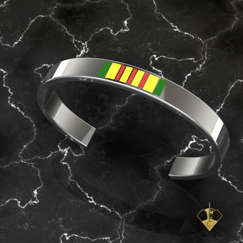 Marine Vietnam Bracelet in Solid Sterling Silver Large