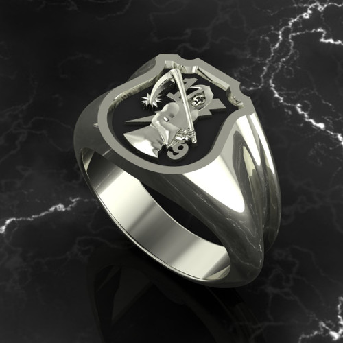 The Walking Dead  Solid 10k White Gold Made by a 1/9er