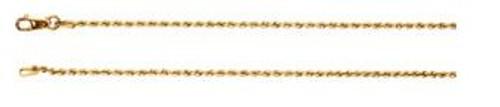 """14K Yellow 1.5mm Rope 18"""" Chain"""