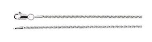 "14K White Gold 1.5mm Wheat 18"" Chain"
