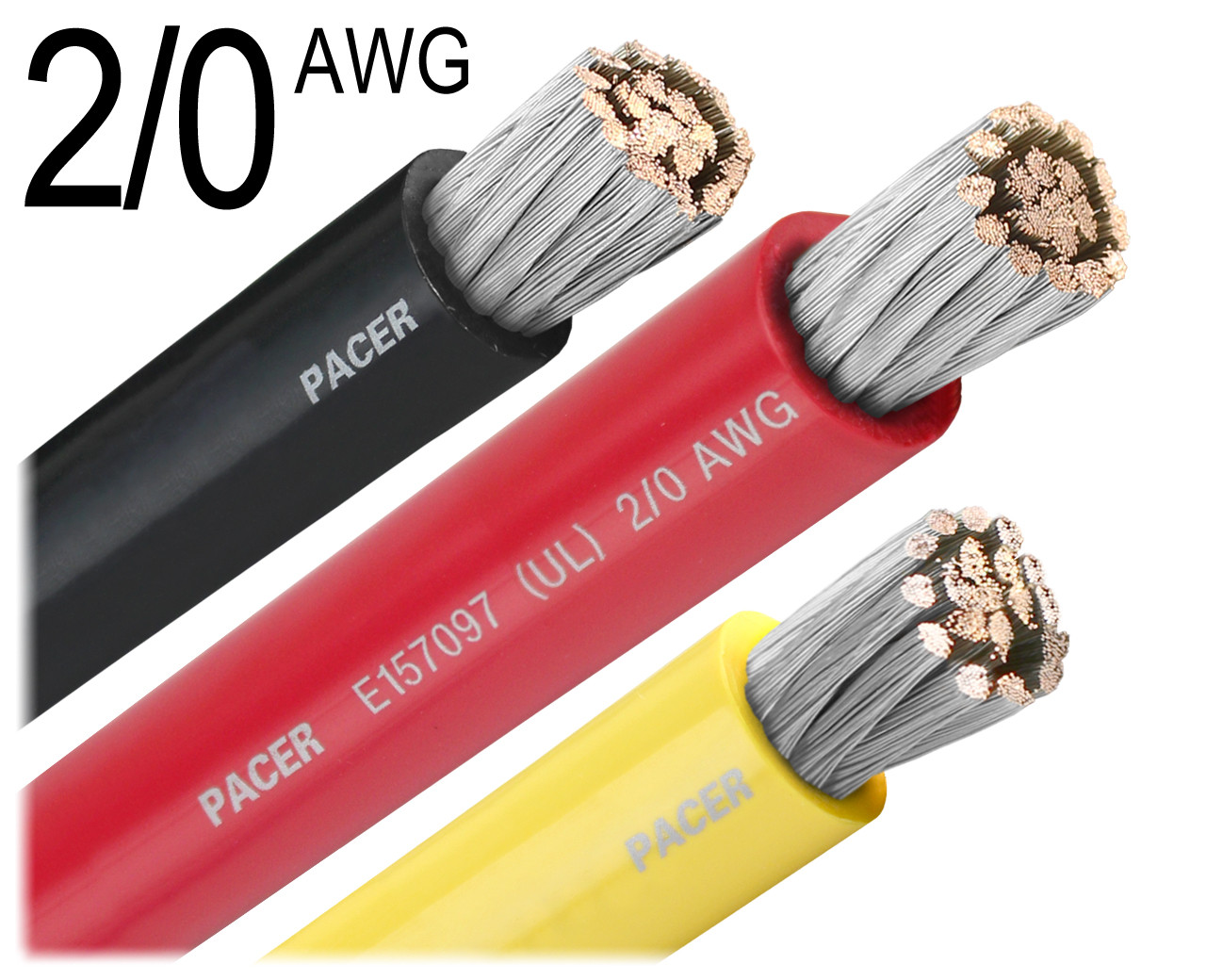 2//0 AWG Marine Wire Tinned Copper Battery Boat Cable Available in Black /& Red Made in The USA