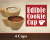 Edible Cookie Cups - 4 units