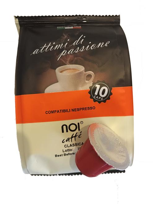 Noi Espresso Coffee Capsules Classica (10 shots) - Nespresso Compatible