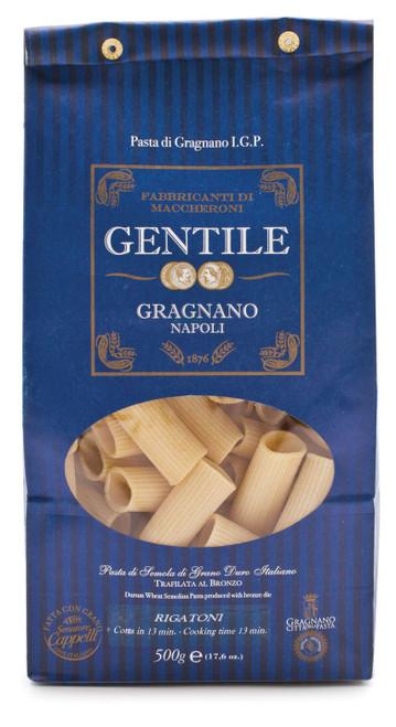 Pasta Rigatoni, Gentile, Gragnano-Napoli, 1.1 lb (500 g)