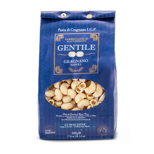 Pasta Lumachine,  Gentile, Gragnano-Napoli, 1.1 lb (500 g)