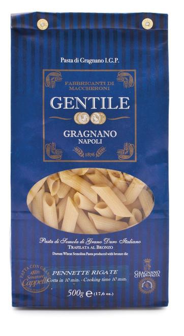 Pasta Pennette Rigate, Gentile, Gragnano-Napoli, 1.1 lb (500 g)