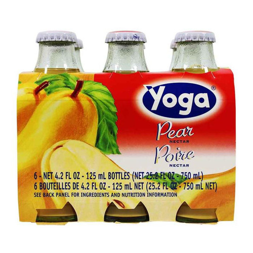 Pear Nectar, Yoga, Italy, 6 Bottles x 4.2 fl oz each (125 ml each)