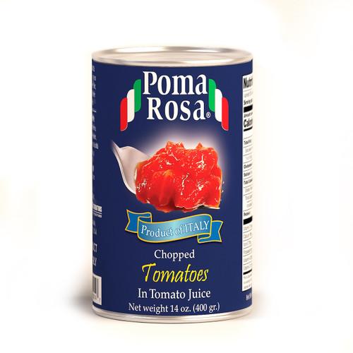Chopped Tomotoes In Natural Juice, Poma Rosa, Sarno, 14 oz (400 g)