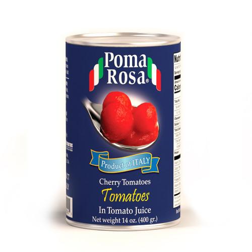 Cherry Tomatoes In Natural Juice, Poma Rosa, Sarno, 14 oz (400 g)