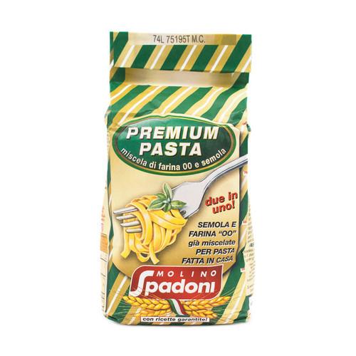 Premium Flour 00 & Semola, 2 in 1, Special For Pasta, Spadoni, Italy, 2.2 lb (1 kg)