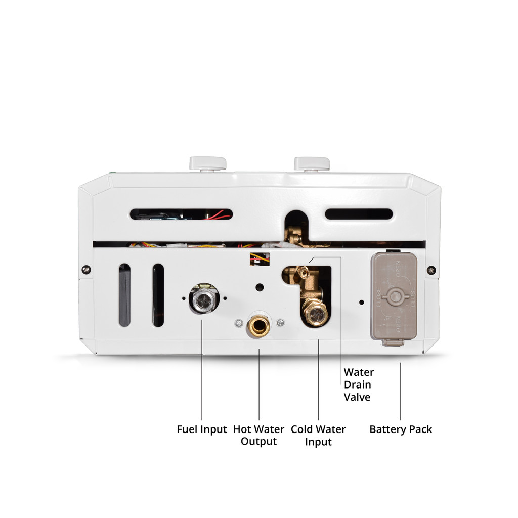 Eccotemp CEL10 Outdoor Tankless Water Heater Bottom View