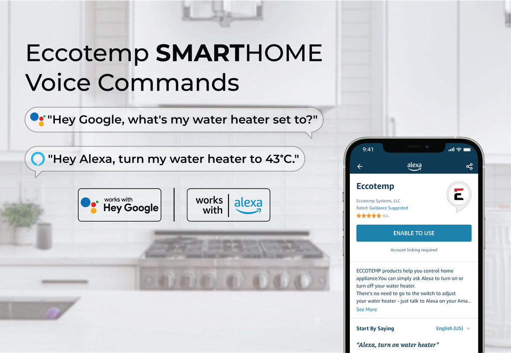 SH12 Smart Home 15 LPM Indoor Liquid Propane Tankless Water Heater with voice commands