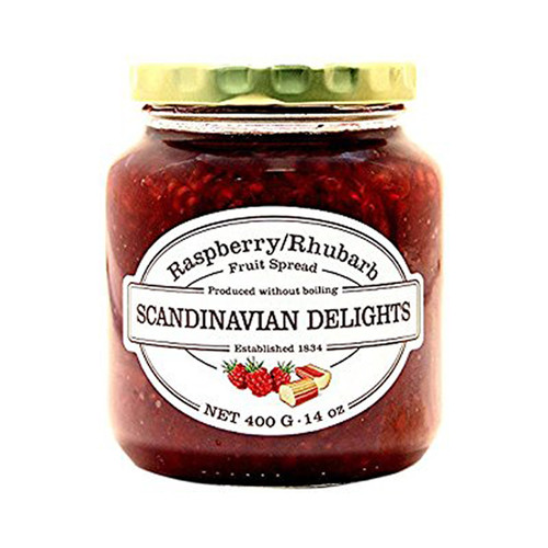 Raspberry Rhubarb Fruit Spread - Scandinavian Delights
