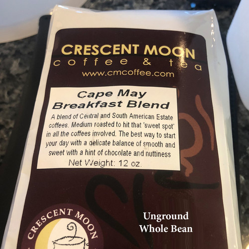 Cape May Breakfast Blend Coffee - WHOLE BEAN