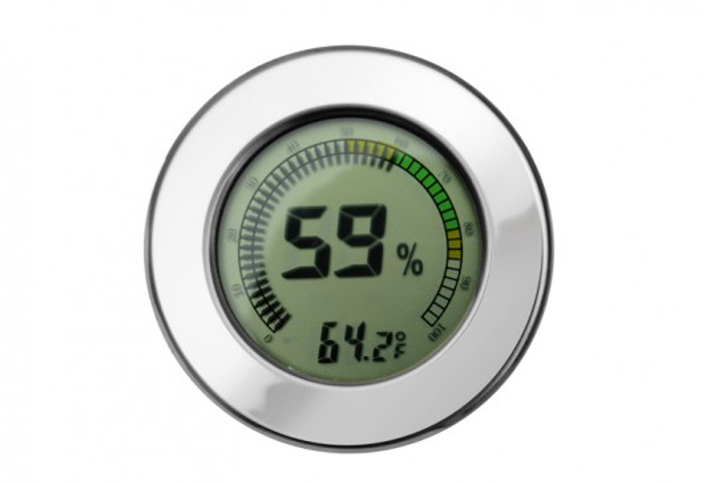 Digital Hygrometer - Polished Silver