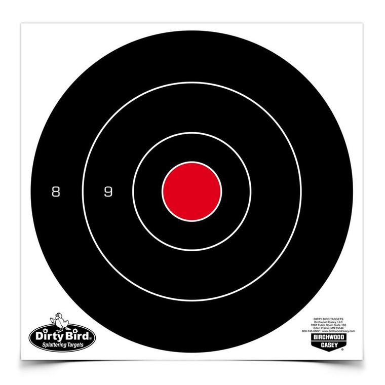 Birchwood Casey Dirty Bird Target 8-Inch Bull 25-Pack