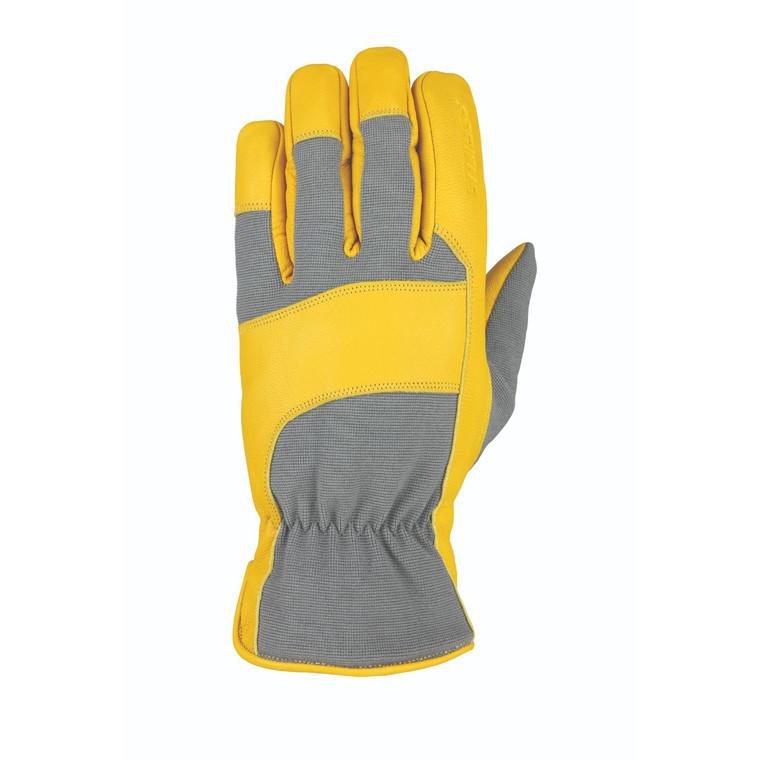 Heatwave Leather Glove Gray Tan Goatskin M