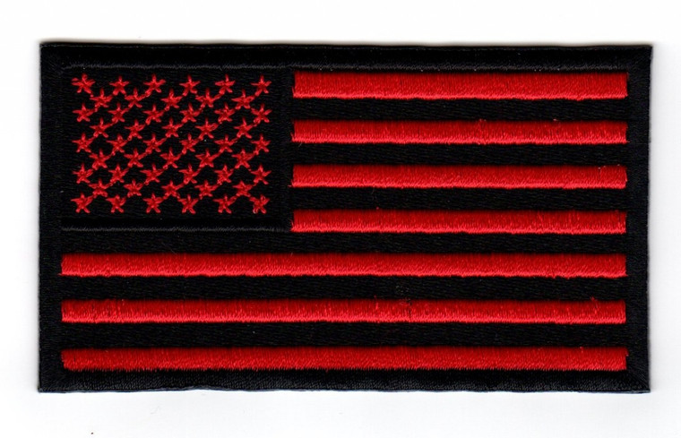 American Flag (Black and Red)