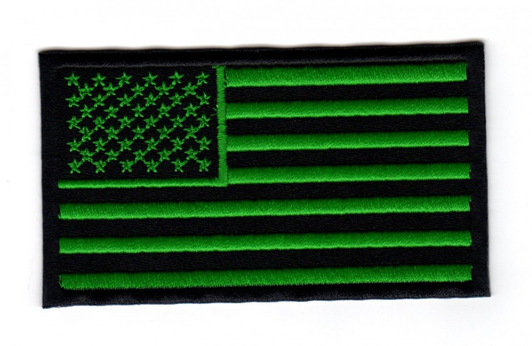 American Flag (Black and Green)