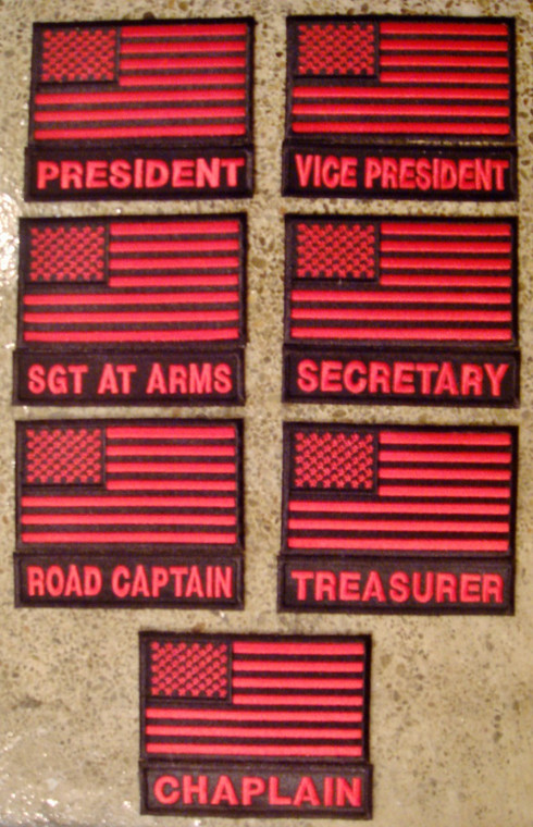 American Flag and Officer Title