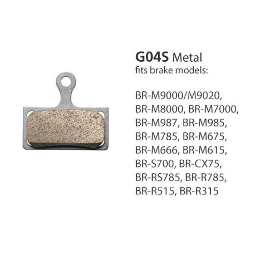 0520fd18f58 Shimano BR-M8000 Metal Pad & Spring G04S w/Split Pin