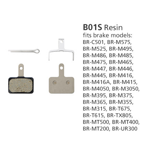 Shimano BR-MT400 Disc Brake Pads B01S Resin