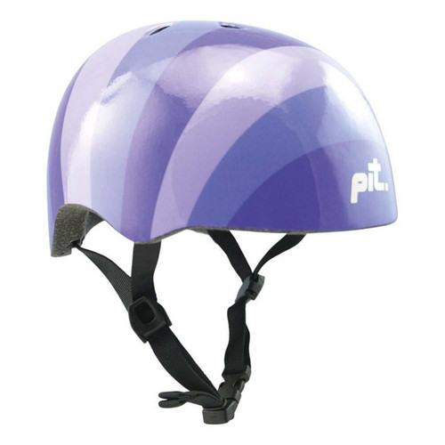 PIT Urban Helmet - Purple Stripes