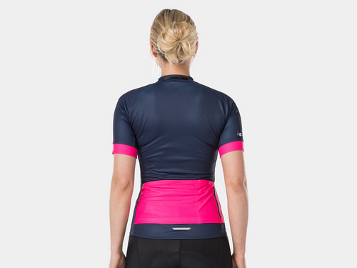 Bontrager Anara LTD Women's Cycling Jersey - Deep Dark Blue/Pink