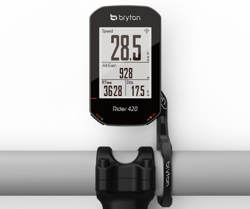 Bryton Rider 420 GPS Cycling Computer With Cadence & HRM
