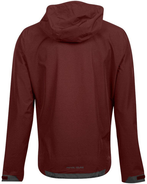 Pearl Izumi Monsoon WxB Hooded Jacket Garnet/Lava