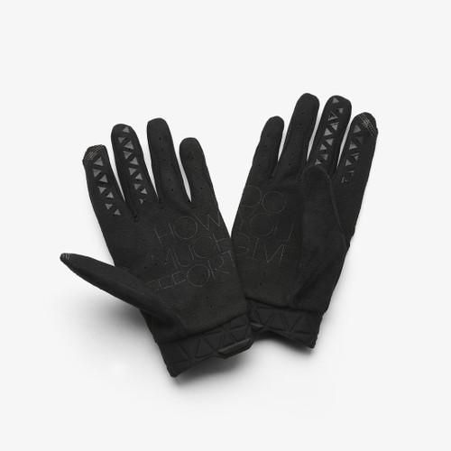 100% GEOMATIC Glove Black/Charcoal