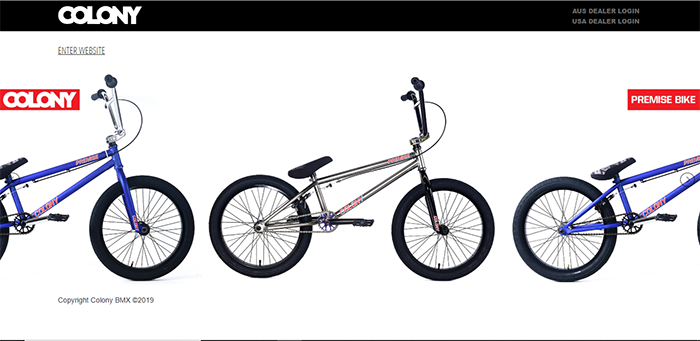 Colony BMX Website