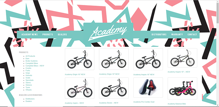 Academy BMX Website