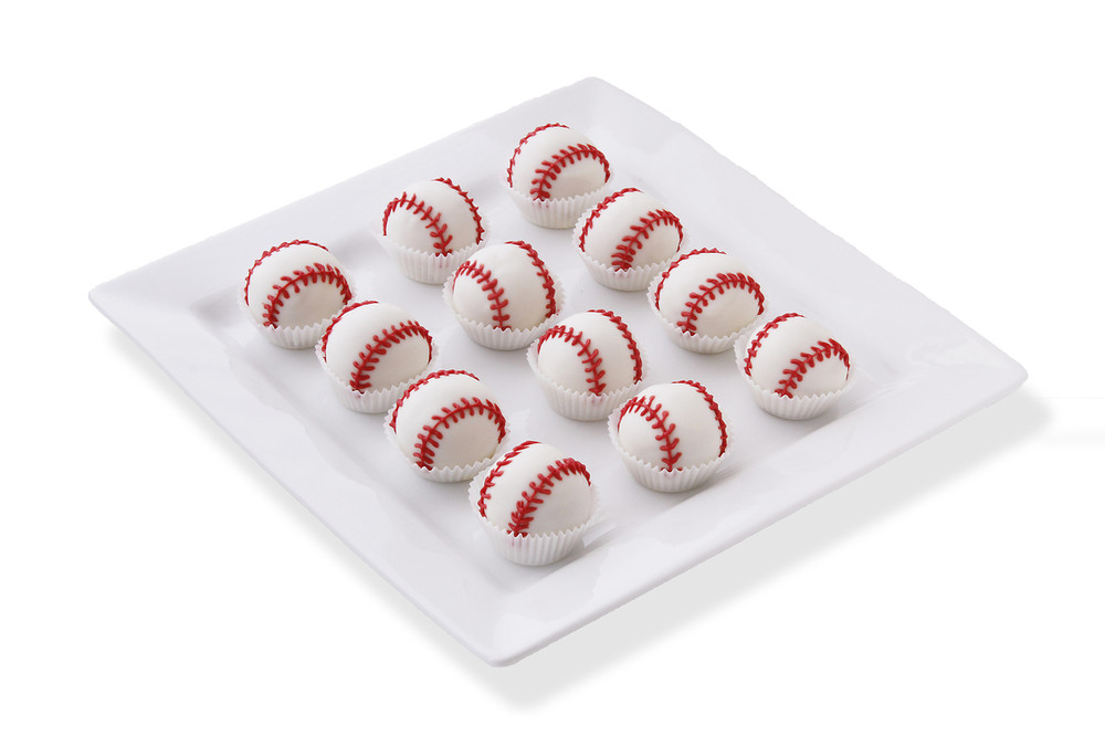 Delicious baseball cake balls