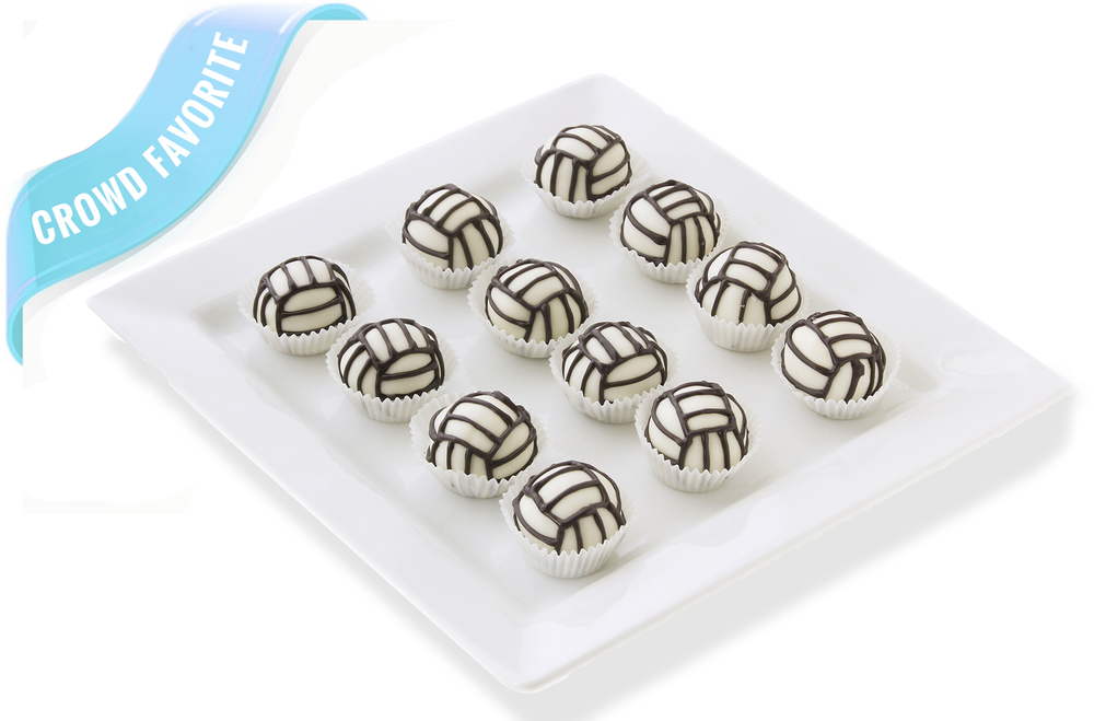 Delicious volleyball cake balls