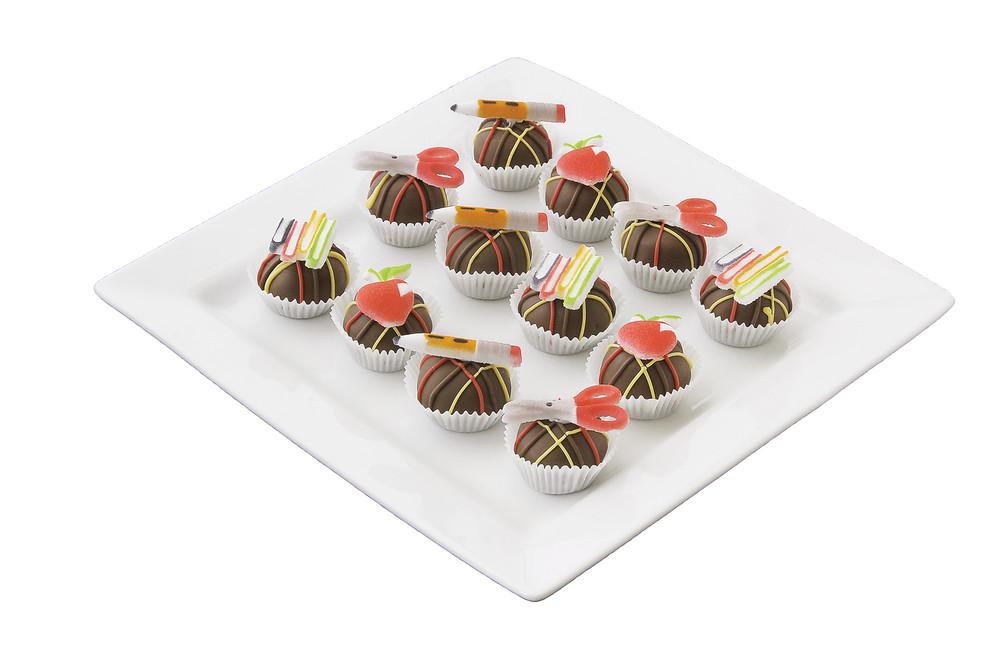 Delicious school themed cake balls