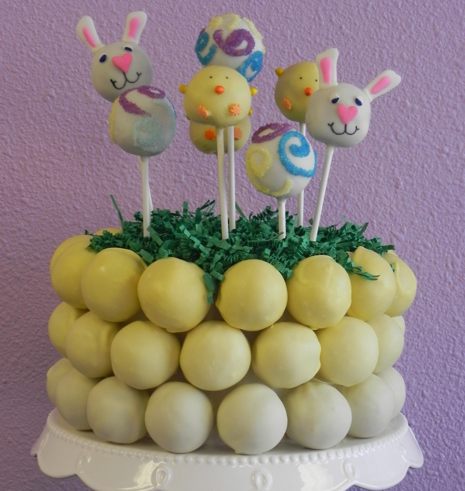 "Ombre Easter cake bite ""cake""!"