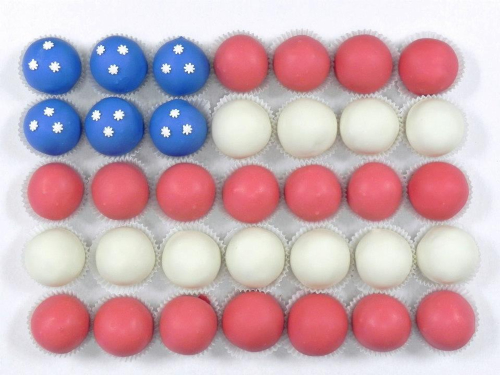American Flag Shape Cake