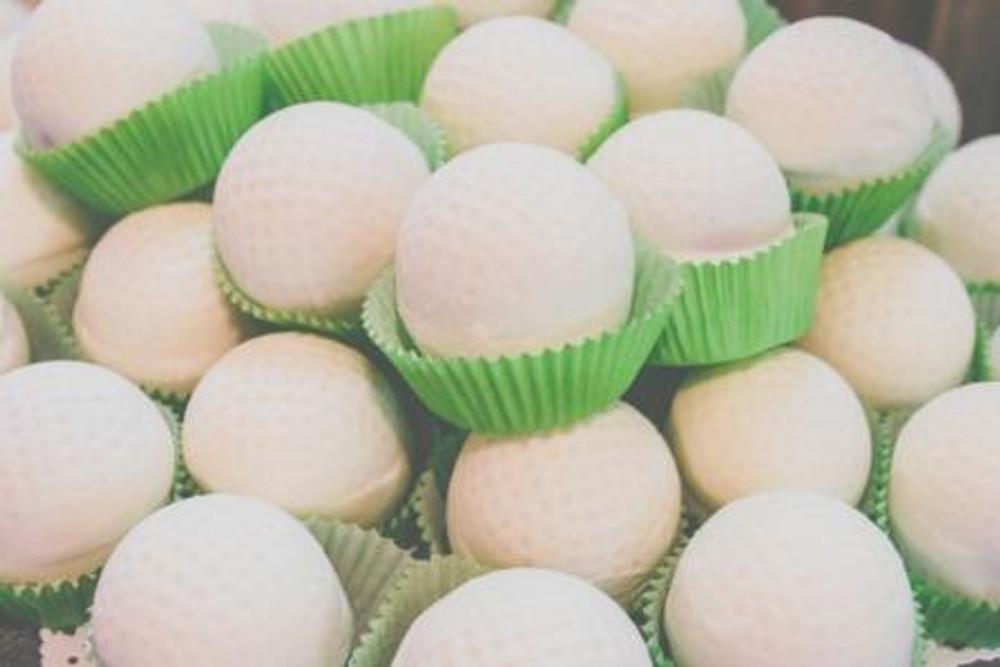 Golf Ball Cake Bites