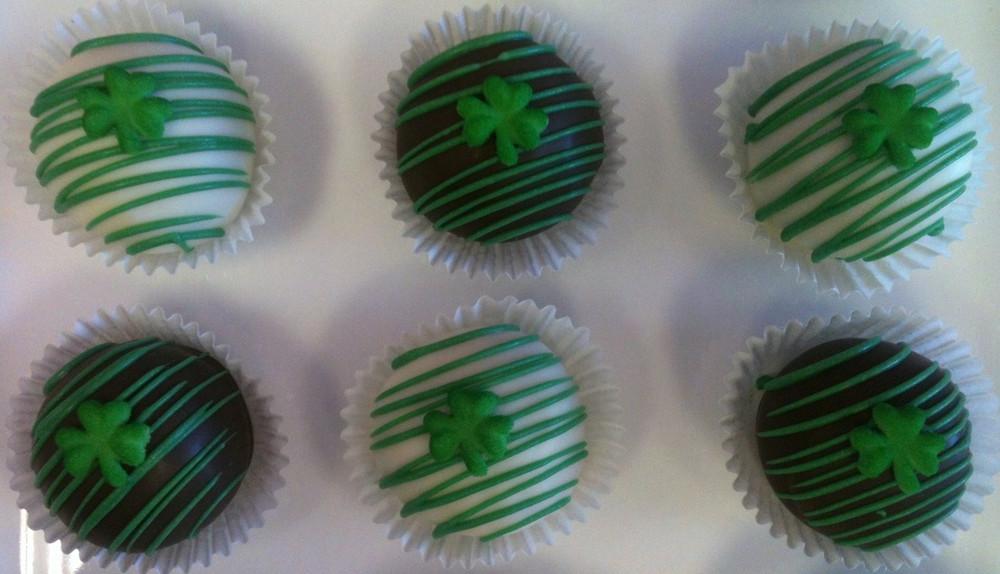 St. Paddy's cake balls