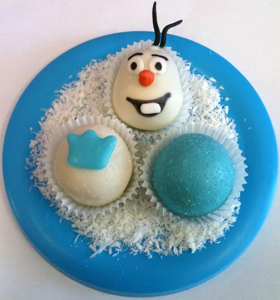 Disney's Frozen cake balls!