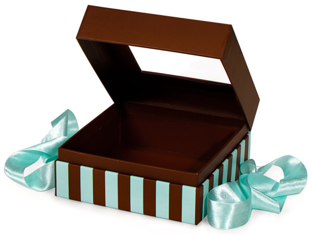 Tiffany blue striped cake ball gift box