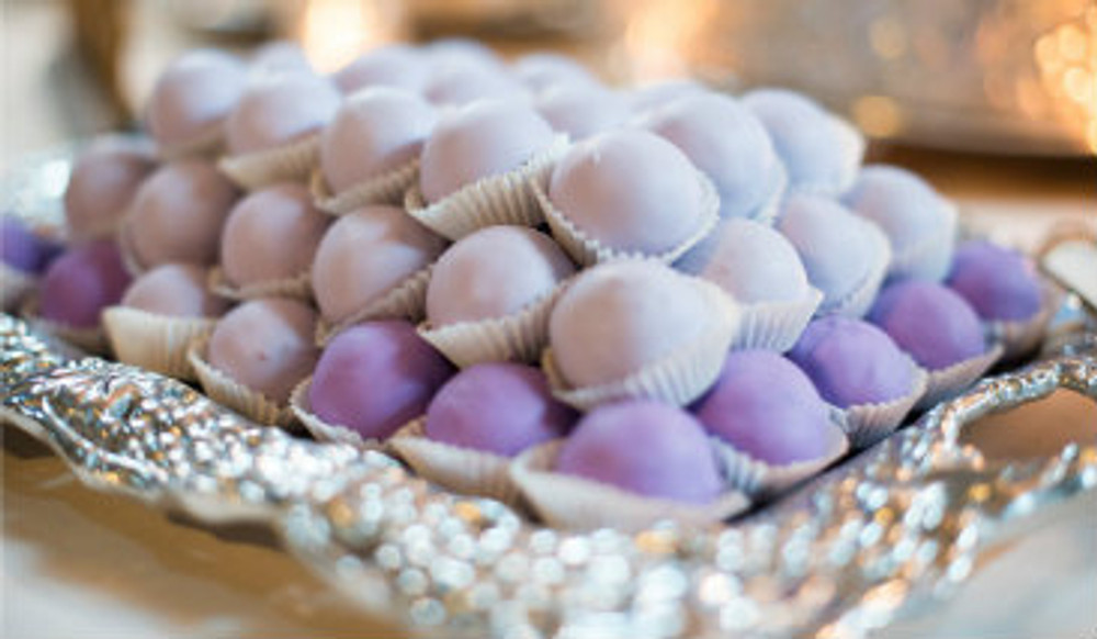 50 Wedding Shower Cake Balls - Gradient