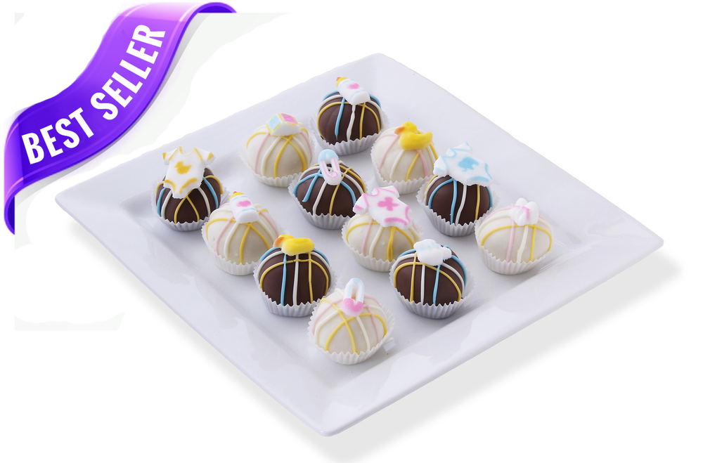Select your cake ball colors to compliment your shower theme!