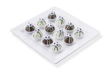 Soccer cake balls