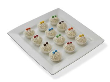 Spook-tacular mummy cake balls