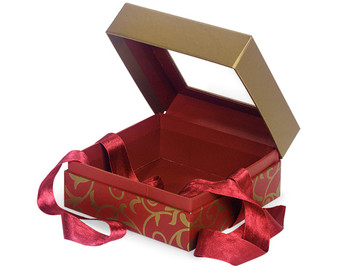 Red scroll gift box - perfect for Valentine's Day gifts!