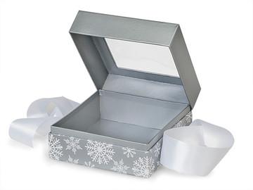 Silver snowflakes cake ball gift box