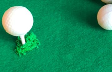 "6"" Round Golf Themed Cake"