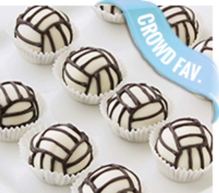 Delicious volleyball cake balls
